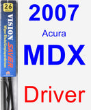 Driver Wiper Blade for 2007 Acura MDX - Vision Saver