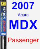 Passenger Wiper Blade for 2007 Acura MDX - Vision Saver