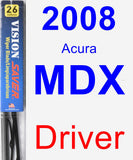 Driver Wiper Blade for 2008 Acura MDX - Vision Saver