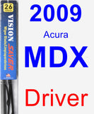 Driver Wiper Blade for 2009 Acura MDX - Vision Saver