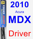 Driver Wiper Blade for 2010 Acura MDX - Vision Saver