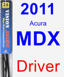 Driver Wiper Blade for 2011 Acura MDX - Vision Saver