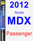 Passenger Wiper Blade for 2012 Acura MDX - Vision Saver