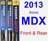 Front & Rear Wiper Blade Pack for 2013 Acura MDX - Vision Saver