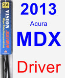 Driver Wiper Blade for 2013 Acura MDX - Vision Saver
