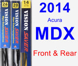 Front & Rear Wiper Blade Pack for 2014 Acura MDX - Vision Saver