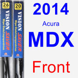 Front Wiper Blade Pack for 2014 Acura MDX - Vision Saver