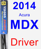 Driver Wiper Blade for 2014 Acura MDX - Vision Saver