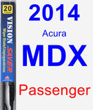 Passenger Wiper Blade for 2014 Acura MDX - Vision Saver