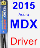 Driver Wiper Blade for 2015 Acura MDX - Vision Saver