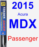Passenger Wiper Blade for 2015 Acura MDX - Vision Saver