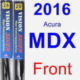 Front Wiper Blade Pack for 2016 Acura MDX - Vision Saver