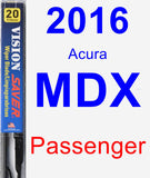 Passenger Wiper Blade for 2016 Acura MDX - Vision Saver
