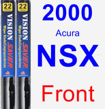 Front Wiper Blade Pack for 2000 Acura NSX - Vision Saver