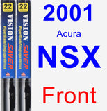 Front Wiper Blade Pack for 2001 Acura NSX - Vision Saver
