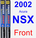 Front Wiper Blade Pack for 2002 Acura NSX - Vision Saver