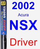 Driver Wiper Blade for 2002 Acura NSX - Vision Saver