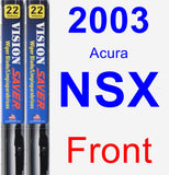 Front Wiper Blade Pack for 2003 Acura NSX - Vision Saver