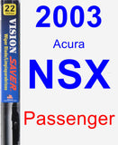 Passenger Wiper Blade for 2003 Acura NSX - Vision Saver