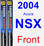 Front Wiper Blade Pack for 2004 Acura NSX - Vision Saver