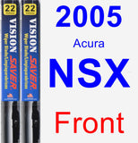 Front Wiper Blade Pack for 2005 Acura NSX - Vision Saver