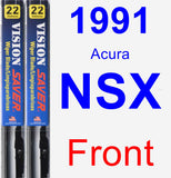 Front Wiper Blade Pack for 1991 Acura NSX - Vision Saver