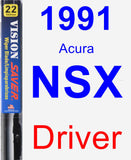 Driver Wiper Blade for 1991 Acura NSX - Vision Saver