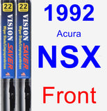 Front Wiper Blade Pack for 1992 Acura NSX - Vision Saver