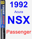 Passenger Wiper Blade for 1992 Acura NSX - Vision Saver
