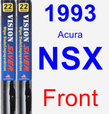 Front Wiper Blade Pack for 1993 Acura NSX - Vision Saver