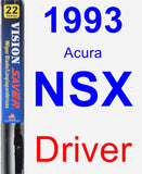 Driver Wiper Blade for 1993 Acura NSX - Vision Saver