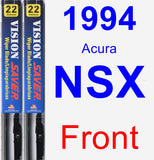 Front Wiper Blade Pack for 1994 Acura NSX - Vision Saver