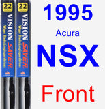 Front Wiper Blade Pack for 1995 Acura NSX - Vision Saver