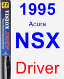 Driver Wiper Blade for 1995 Acura NSX - Vision Saver