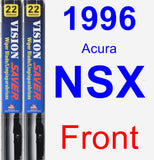 Front Wiper Blade Pack for 1996 Acura NSX - Vision Saver