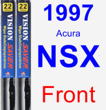 Front Wiper Blade Pack for 1997 Acura NSX - Vision Saver