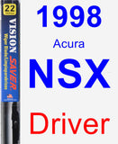 Driver Wiper Blade for 1998 Acura NSX - Vision Saver
