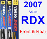 Front & Rear Wiper Blade Pack for 2007 Acura RDX - Vision Saver