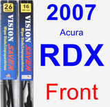 Front Wiper Blade Pack for 2007 Acura RDX - Vision Saver