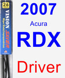 Driver Wiper Blade for 2007 Acura RDX - Vision Saver