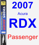 Passenger Wiper Blade for 2007 Acura RDX - Vision Saver