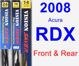 Front & Rear Wiper Blade Pack for 2008 Acura RDX - Vision Saver