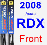 Front Wiper Blade Pack for 2008 Acura RDX - Vision Saver