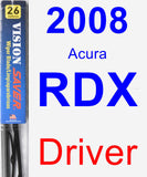 Driver Wiper Blade for 2008 Acura RDX - Vision Saver