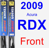 Front Wiper Blade Pack for 2009 Acura RDX - Vision Saver