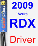Driver Wiper Blade for 2009 Acura RDX - Vision Saver