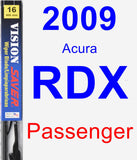 Passenger Wiper Blade for 2009 Acura RDX - Vision Saver
