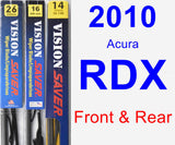 Front & Rear Wiper Blade Pack for 2010 Acura RDX - Vision Saver