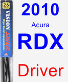 Driver Wiper Blade for 2010 Acura RDX - Vision Saver