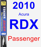 Passenger Wiper Blade for 2010 Acura RDX - Vision Saver